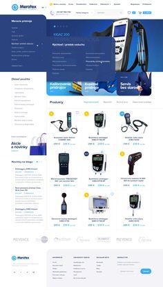Meratex homepage menu