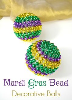 A simple craft using Mardi Gras beads to add some color to your home.