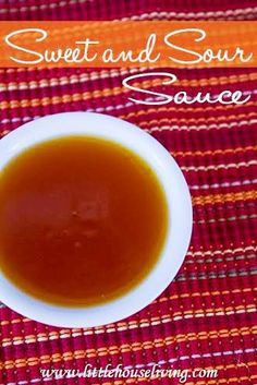 Make your own Sweet N Sour Sauce! This recipe is super easy and only takes 5 minutes. I will never have to buy it again!