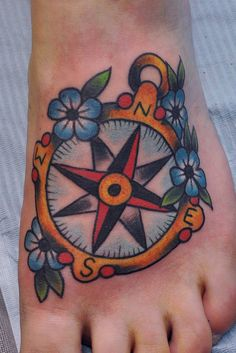 Traditional Compass Tattoo | Flickr - Photo Sharing!