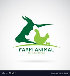 Group of animal farm label cowpigchickenegg vector image on VectorStock Logo Animal, Animal Law, Cow Logo, Farm Logo, Brand Identity Design, Logo Design, Branding Design, Graphic Design, Chicken Logo