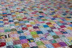 Postage Stamp Quilt, The Little Red Hen