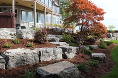 Stone Landscaping Tiered garden landscaping