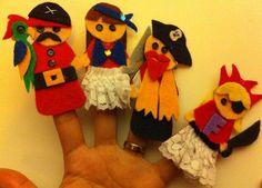 Pirat finger puppets