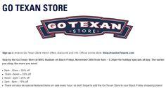 Go Texan Store Black Friday Offer