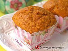Ζουμερά muffins με κολοκύθα #sintagespareas #muffinsmekolokitha