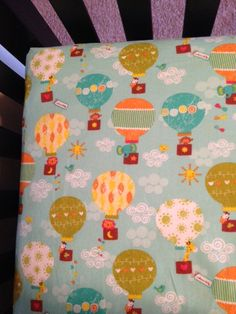 Fitted crib sheet hot air balloon by JMayDecor on Etsy, $12.00