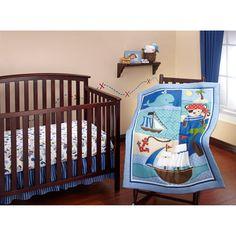 Little Bedding by NoJo Baby Buccaneer 3pc Crib Bedding Set