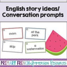 English story writing ideas/Oral conversation prompts