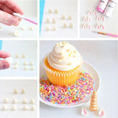 Unicorn Horn Fondant Toppers | www.bakerspartyshop.com