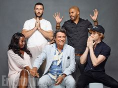 Comic-Con 2016 Star Portraits: Day 2 | Pablo Schreiber, Ricky Whittle, Yetide Badaki, Ian McShane, and Bruce Langley,…