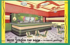Hotel Jordan Tap Room, Glendive Montana
