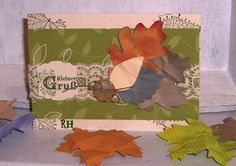 Herbstkarte Vintage