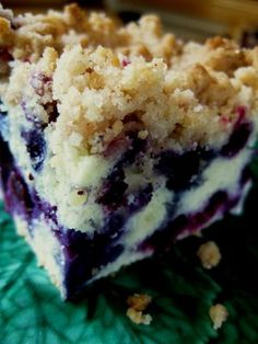 Blueberry Breakfast Crumble  I have actually made this same recipe called Blueberry Buckle ~ it is sooo good!!