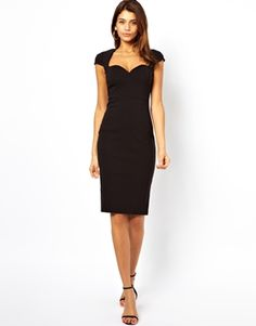 ASOS Sweetheart Bengaline Pencil Dress $67 (black and wine are both beautiful!)
