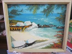 Painting of a Wonderful Beach Scene Great by MountainShine on Etsy, $45.00