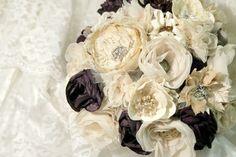 gorgeous fabric flower bouquet