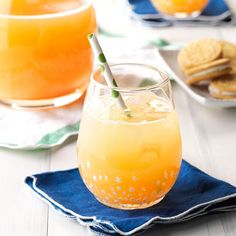 Santa's Orange-Kissed Cocktail Recipe -Refreshing but not overly sweet, this drink is a festive choice for Christmas get-togethers. Serve it during cocktail hour, at dinner or even for brunch in place of mimosas. —Claire Beattie, Toronto, Ontario