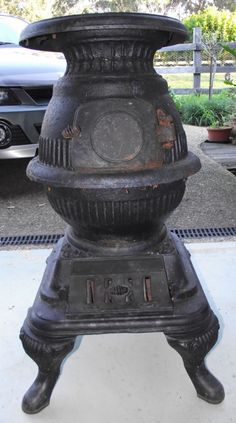 Old Mountain Pre Seasoned Cast Iron Mini Pot Belly Stove Set 13 Inches Tall