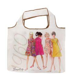 Simplicity Vintage Folding Shop Tote by C. Fun, Gifts, Travel, Vintage, Shopping, Fashion, Fin Fun, Presents, Voyage