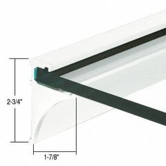"""CRL White 18"""" Aluminum Shelving Extrusion for 3/8"""" Glass by CR Laurence by CR Laurence. $26.65. Color: White Length: 18 in. (457 mm) Available For 1/4"""" and 3/8"""" (6 and 10 mm) Thick Glass Available in Four Lengths and Finishes Easy to InstallNote: Glass is not included CRL Aluminum Shelf Extrusions are designed to support glass shelves without a lot of visible metal. The cleat easily attaches to studs with screws, and can support a shelf with a maximum projection of..."""