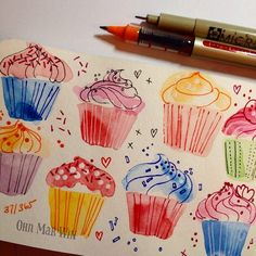 // sketchbook // cupcakes! //
