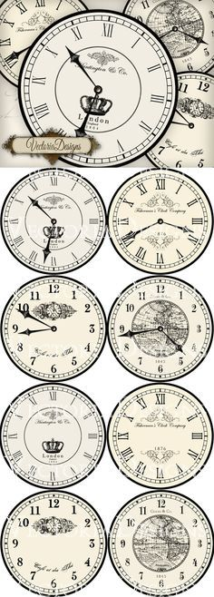 Large Printable Vintage Clocks & great for crafting! Large Printable Vintage Clocks & great for crafting! The post Large Printable Vintage Clocks & great for crafting! & Vintage appeared first on Farmhouse decor . Vintage Farmhouse, French Farmhouse Decor, French Decor, Farmhouse Chic, French Country Decorating, Country Farmhouse, Vintage Maps, Shabby Vintage, Vintage Clocks