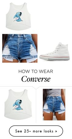 """""""Stitch and converse"""" by macyyyyyyyy on Polyvore featuring Converse, women's clothing, women's fashion, women, female, woman, misses and juniors"""