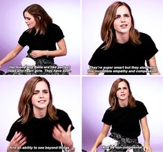 Emma Watson - Do you think Belle and Hermione have anything in common?