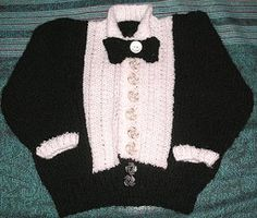 This dapper homemade Halloween costume is perfect for dapper kids and babies. This knitted tuxedo will keep them warm and cozy while they're out trick-or-treating.