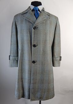 Vintage Mens 1970s Alpacuna Glen plaid coat. by EndlessAlley