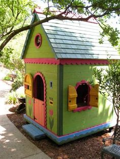 Beautiful playhouse for the kids.The round porthole windows under the gable bring sunlight & air to the loft space, making it the perfect place to read or take a nap.