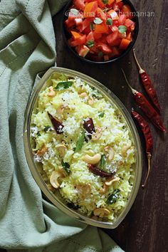 An easy and light summertime South Indian rice dish with grated raw mango, cashewnuts and fresh coconut served with yogurt or raita.