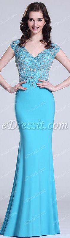 Sparkling blue prom dress! #edressit #prom #fashion #latest