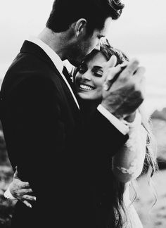 bride and groom   black and white wedding photography   more wedding inspiration and ideas @danellesbridal danellesboutique.com #WeddingIdeasBlackAndWhite