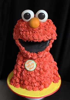 Sculpted Elmo Cake | by Oakleaf Cakes