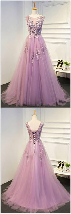 Pink Prom Dresses, Prom Dresses A-Line, Evening Dresses With Appliques, Long Prom Dresses Prom Dresses Long A Line Prom Dresses, Tulle Prom Dress, Formal Dresses For Women, Cheap Prom Dresses, Homecoming Dresses, Bridesmaid Dresses, Prom Gowns, Long Dresses, Wedding Dresses