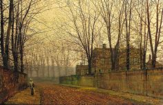 Learn more about Late October At Ritson John Atkinson Grimshaw - oil artwork, painted by one of the most celebrated masters in the history of art. Lucian Freud, Leeds, Monet, Yorkshire, Atkinson Grimshaw, Art Through The Ages, In His Time, Art Folder, Interior Garden