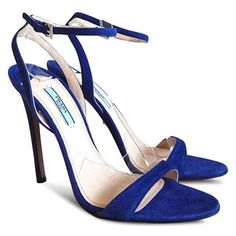 f6f0c3199626dd Royal Blue New Suede Ankle Strap Open - Sandals