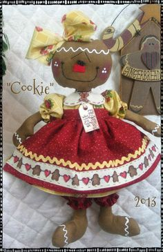 "♥♥ Primitive New Raggedy Gingerbread Doll ""Cookie"" ♥♥ from Ginger Creek Crossing 