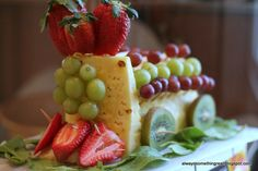Train Party Ideas - Train Party Food - Train Fruit  breanna would love this