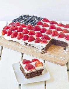 Gluten Free Chocolate Flag Cake