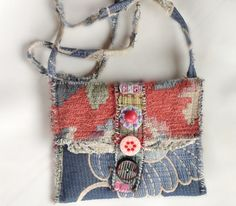 Crossbody Bag Whimsical Artsy Collage Style in by itzaChicThing, $75.00