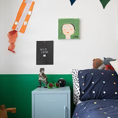 Blue and green should always be seen 💙 But what shouldn't green be seen with really 🤔 Our fave boys room, featuring us and @mustardmade and the cutest little portrait from Kate @wowhaus.au 💚⁠  ⁠  Styling @wowhaus.au 📸 @nataliejeffcott for Kate's house tour on @apartmenthterapy