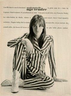 Breton Stripe Shirt, Breton Stripes, Rock And Roll Girl, French Icons, Françoise Hardy, Sheila, People Dancing, Band Photos, Most Beautiful Women