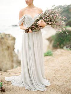 Grey Elegant Malibu Beach Wedding | Wedding Sparrow | Charla Storey