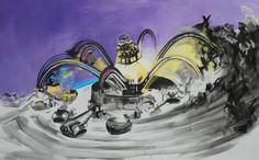 """""""El manejo de las sombras""""  118 x 200 cm  Acrílico sobre canvas. Ana Abregú, 2011"""