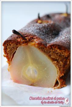 Moelleux au chocolat praliné et poires entières : la recette facile