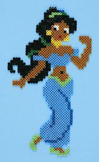 Jasmine (Aladdin) Fuse Bead Patterns, Perler Patterns, Beading Patterns, Cross Stitch Patterns, Cross Stitches, Loom Patterns, Loom Beading, Fuse Beads, Pearler Beads