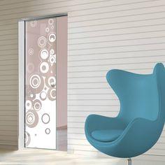 Eclisse 10mm Stampe 2 Sandblasted Design on Clear or Satin Glass Syntesis Pocket Door.    #glassdoor  #pocketglassdoor  #slidingglassdoor